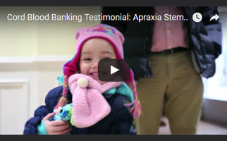 apraxia cord blood banking testimonial video