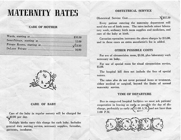 Maternity pamphlet from 1947