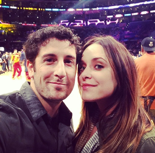 Celebrity couple Jason Biggs & Jenny Mollen